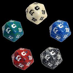 Set de 5 dados d20 Spindown